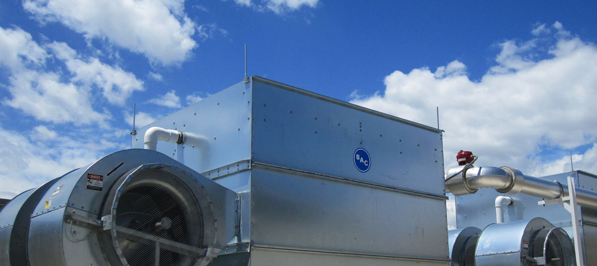 A Commercial-Grade Cooling Tower Installed, Serviced and Maintained by Loren and Associates.